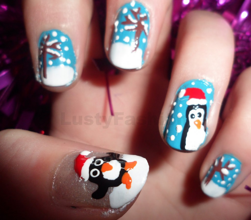 Penguin Nail Art Designs: 10 Festive Nail Arts To Perk Up Your Christmas