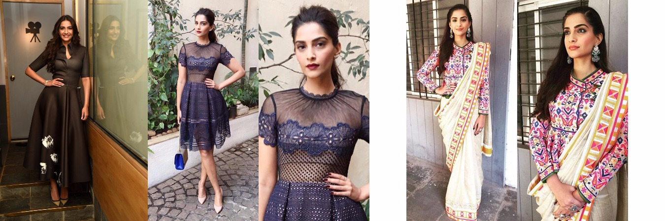 Sonam Kapoor Promoting Neerja With All Fashion Factor