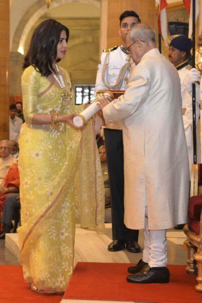 Priyanka Chopra Receives Padma Shri Awards