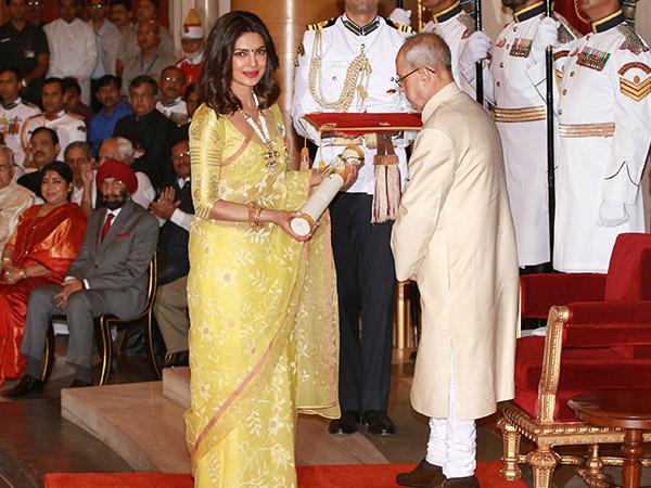 Priyanka Chopra Looks Every Bit Worthy Of The Padmashree As She Receives The Award