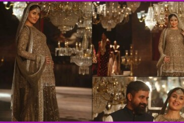 #LFW2016 – Kareena Kapoor Khan With a Baby Bump Walks Like a Stunning Queen for Sabyasachi