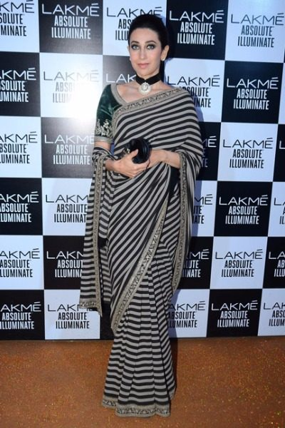 Karisma Kapoor in Sabyasachi at Lakme Fashion Week 2016