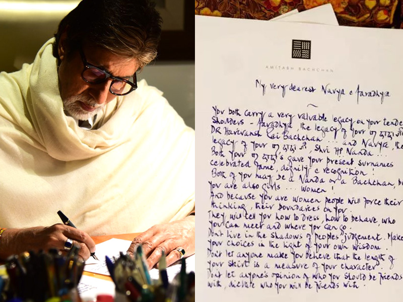 This Heartfelt Video of Amitabh Bachchan to His Granddaughters is Something Every girl Should See