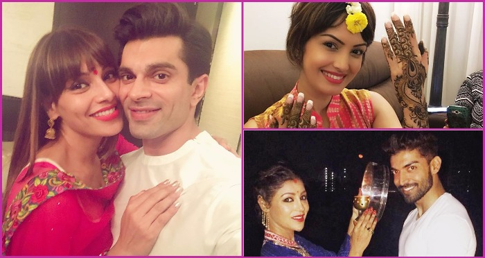 Bollywood and TV Celebs Dressed in Traditional Indian Wear To Celebrate Karwa Chauth