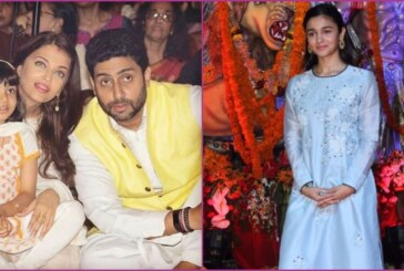 B-Town Celebs Bachchan,Sushmita Sen, Alia at Durga Puja in Ethnic Avatar