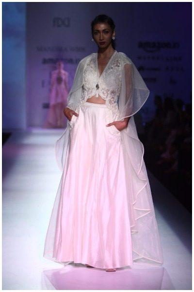 Nimrat Kaur for mandira wirk at AIFW SS17
