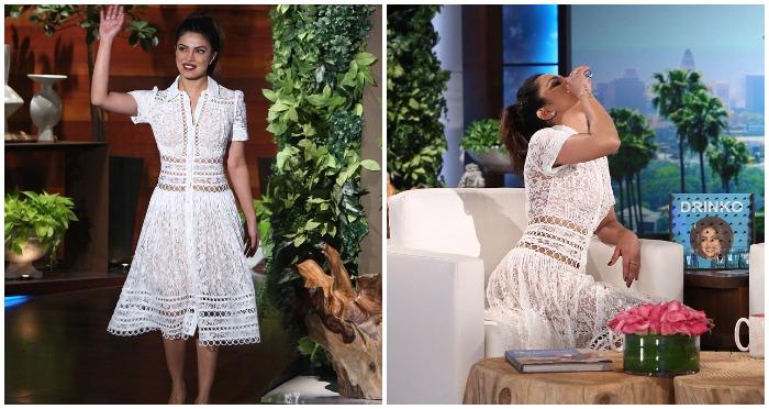 Bottoms Up: Priyanka Chopra Downs Tequila Shot on The Ellen DeGeneres Show