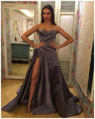Deepika Padukone at Lux Golden Rose Awards Red Carpet