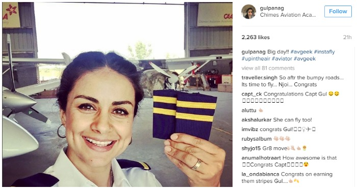 Actress Turned Politician Gul Panag Is Now Officially A Pilot and Can Fly A Plane!