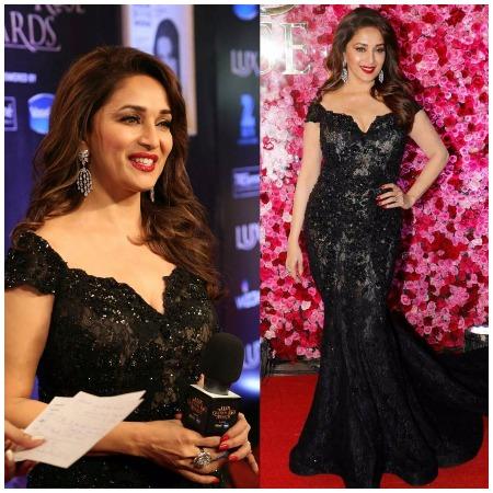 Madhuri Dixit Nene at Lux Golden Rose Awards Red Carpet