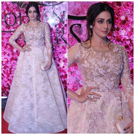 Sridevi at Lux Golden Rose Awards Red Carpet