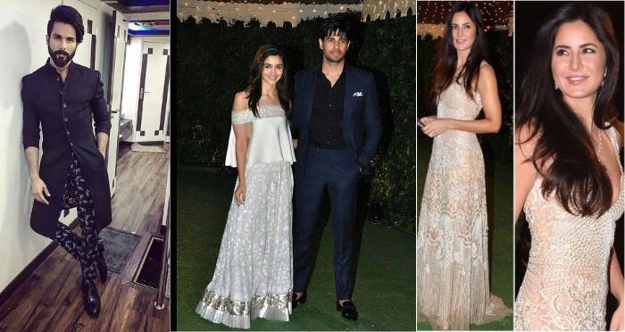 Inside Photos: Alia Bhatt, Sidharth Malhotra, Shahid Kapoor And Others At Star-Studded Wedding Reception!