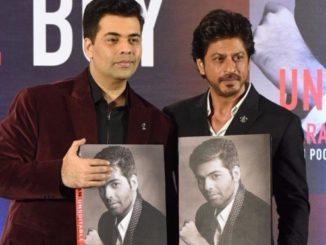 SRK launches Karan Johars autobiography an unsuitable boy