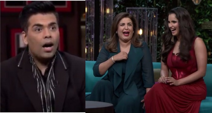 Koffee With Karan 5:  BFF's Farah and Sania Talking About Condoms, Shirtless Man and Much More