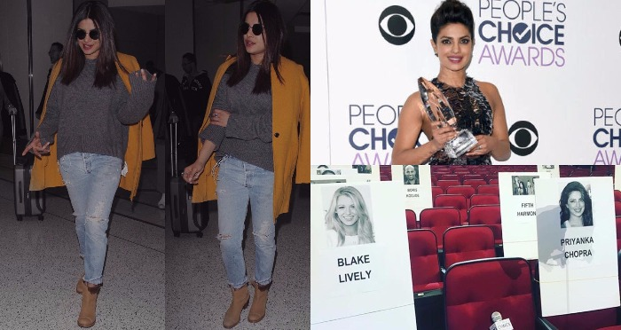 Priyanka Chopra Arrived LA for People's Choice Awards and Her Seat Is Next to Blake Lively
