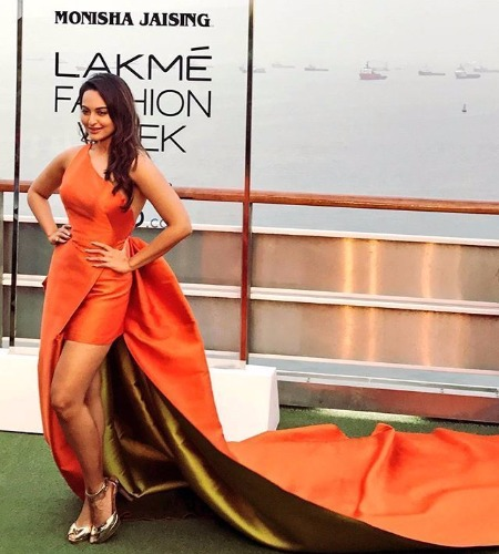 Sonakshi Sinha Walks The Ramp For Monisha Jaising