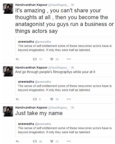 Harshvardhan Kapoor Takes Twitter To Apologize Diljit Dosanjh