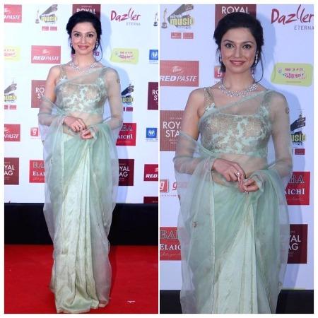 Divya Khosla Kumar Best Dressed Bollywood Actors at Mirchi Music Awards 2017