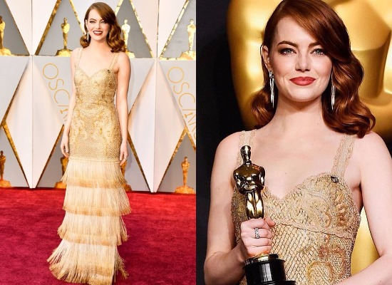 Emma Stone best dressed actress at Oscars 2017