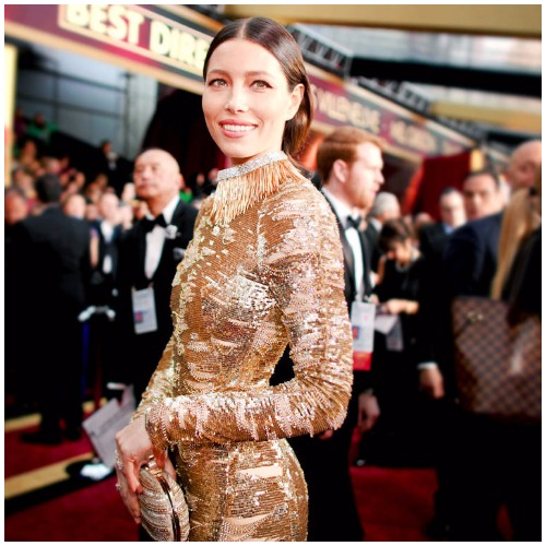 Jessica Biel best dressed actress at Oscars 2017