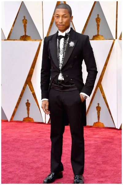 Pharrell Williams best dressed men at Oscars 2017