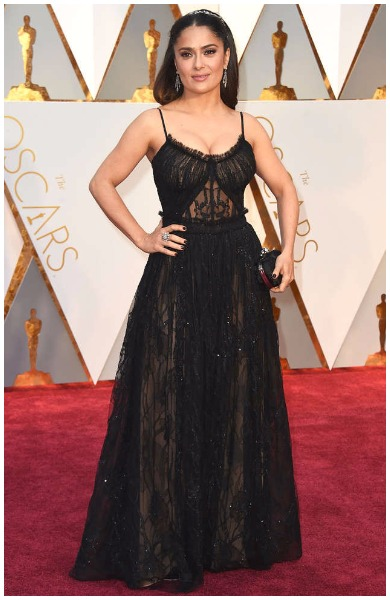 Salma Hayek best dressed actress at Oscars 2017