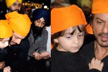 Check Pics: Shah Rukh Khan and His Little Adorable Son AbRam at Golden Temple is Winning Our Hearts