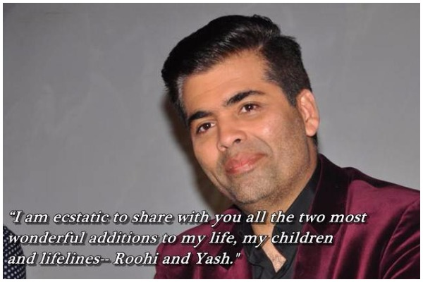 Karan Johar Becomes Father to Twins- Yash And Roohi Via Surrogacy, Celebrities Shower Wishes!