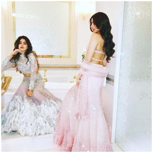 Jhanvi Kapoor Khushi Kapoor at Akshay Marwah Wedding In Abu Dhabi