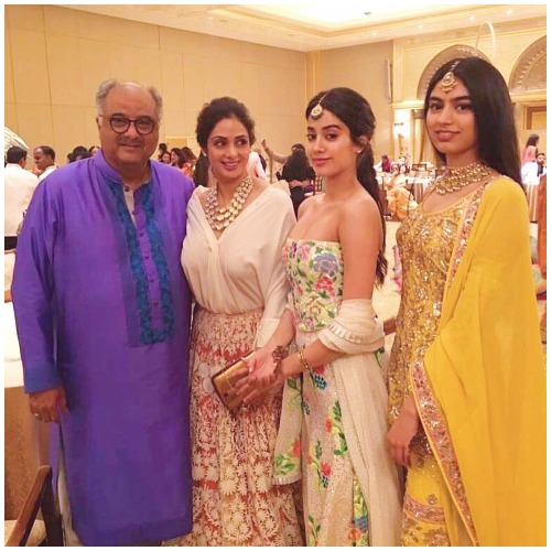 Jhanvi Kapoor at Akshay Marwah Wedding In Abu Dhabi