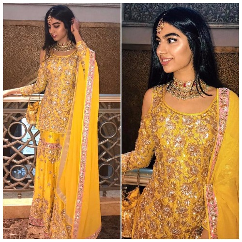Khushi Kapoor at Akshay Marwah Wedding In Abu Dhabi