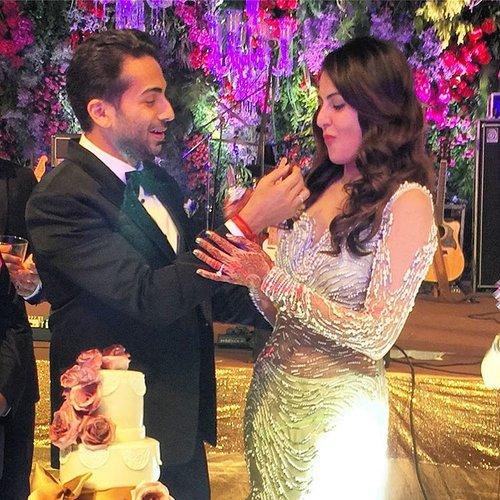 Ekta, Krystle-Karan, Gauhar Khan at Mandana Karimi Wedding Reception