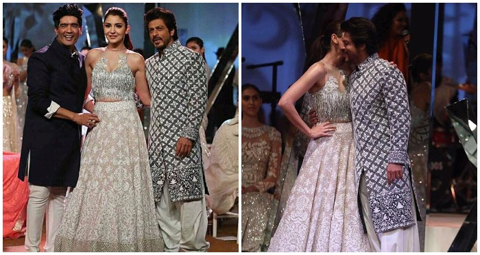 Shah Rukh Khan and Anushka Sharma Walked The Ramp for Manish Malhotra at Mijwan Summer 2017