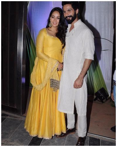 Shahid Mira at Bigg Boss Fame Mandana Karimi's Sangeet