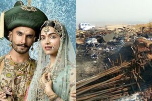 Padmavati Set Attacked in Kolhapur