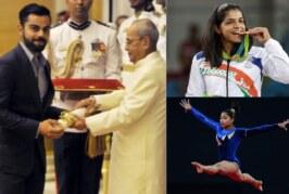Padma Shri 2017: Watch Virat Kohli Receiving Padma Shri Award With Sakshi Malik, Dipa Karmakar in Sports