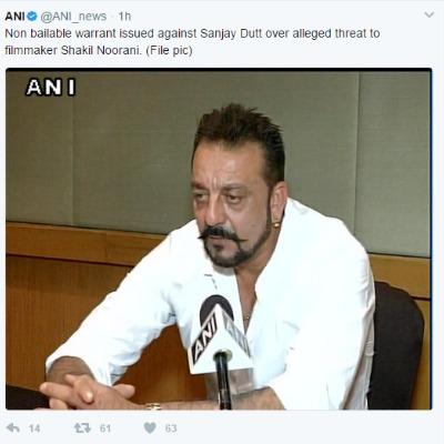 Non-bailable arrest warrant against sanjay dutt