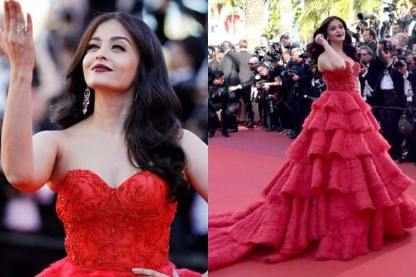 Cannes Film Festival 2017: Aishwarya Rai Bachchan in Ralph & Russo Red Tulle Gown Look Sizzling Hot!