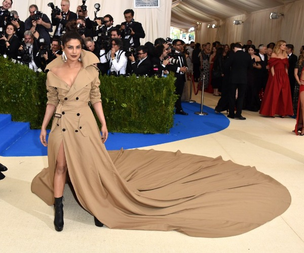 Priyanka Chopra Met Gala 2017 In Ralph Lauren's longest Trench Coat