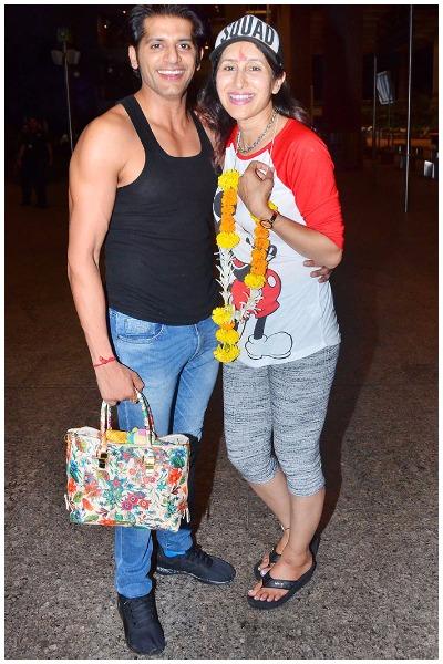 Karanvir Bohra Teejay Sidhu With Daughters Returned India
