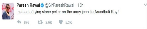 Paresh Rawal Over Arundhati Roy Comment