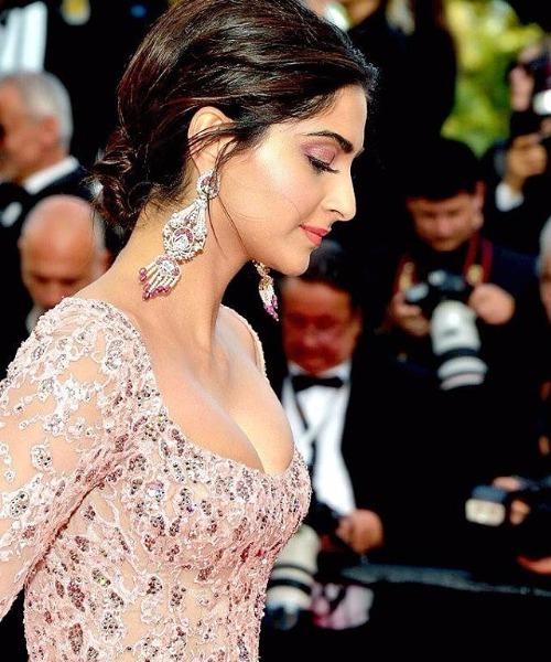 Sonam Kapoor at Cannes 2017 in Elie Saab