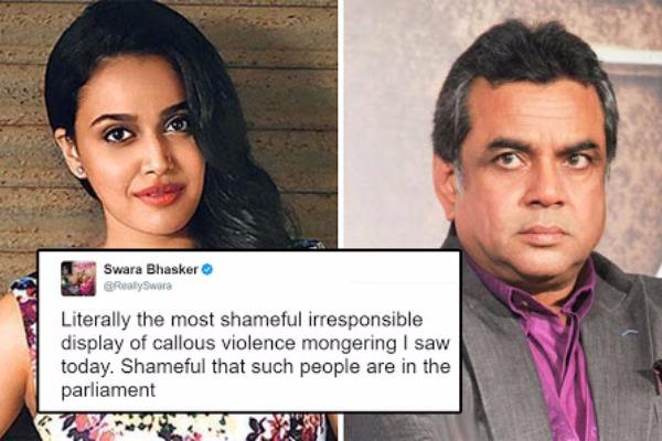 Actress Swara Bhaskar Slams Paresh Rawal Over Arundhati Roy Comment, Gets Trolled Instead!