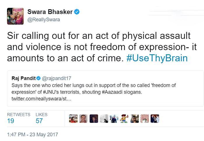Swara Bhaskar trolled for slamming Paresh Rawal