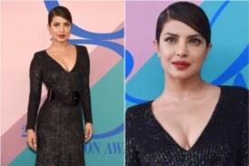 Priyanka Chopra Twinning In Michael Kors' Sequin Dress At The CFDA Fashion Awards 2017
