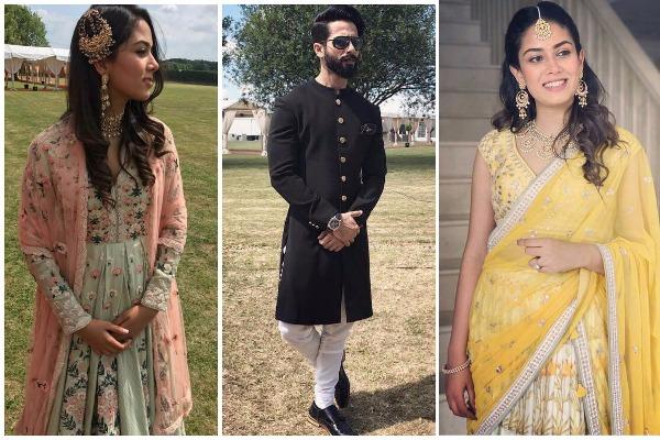 PICS: The Royal Nawabi Look of Shahid Kapoor and Mira Rajput At London Wedding Is Redefining Fashion!