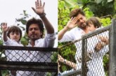 Watch: Shah Rukh Khan, Son AbRam Greet Fans In Signature Style On Eid At Mannat!