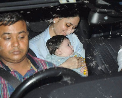 Taimur with Kareena At Laksshya's Birthday