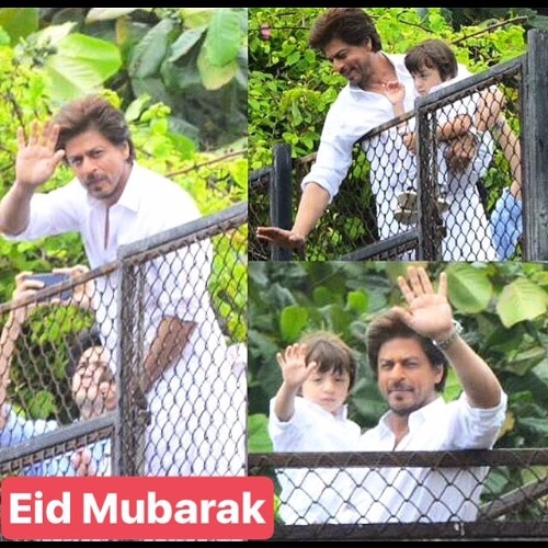 Shah Rukh Khan Son AbRam Greet Fans In Signature Style On Eid