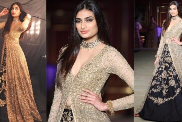 ICW 2017 Day 3: Athiya Shetty Dazzles In Black And Gold As Showstopper For Shyamal-Bhumika!